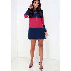NWT- Jack by  BB Dakota  Color block Shift Dress